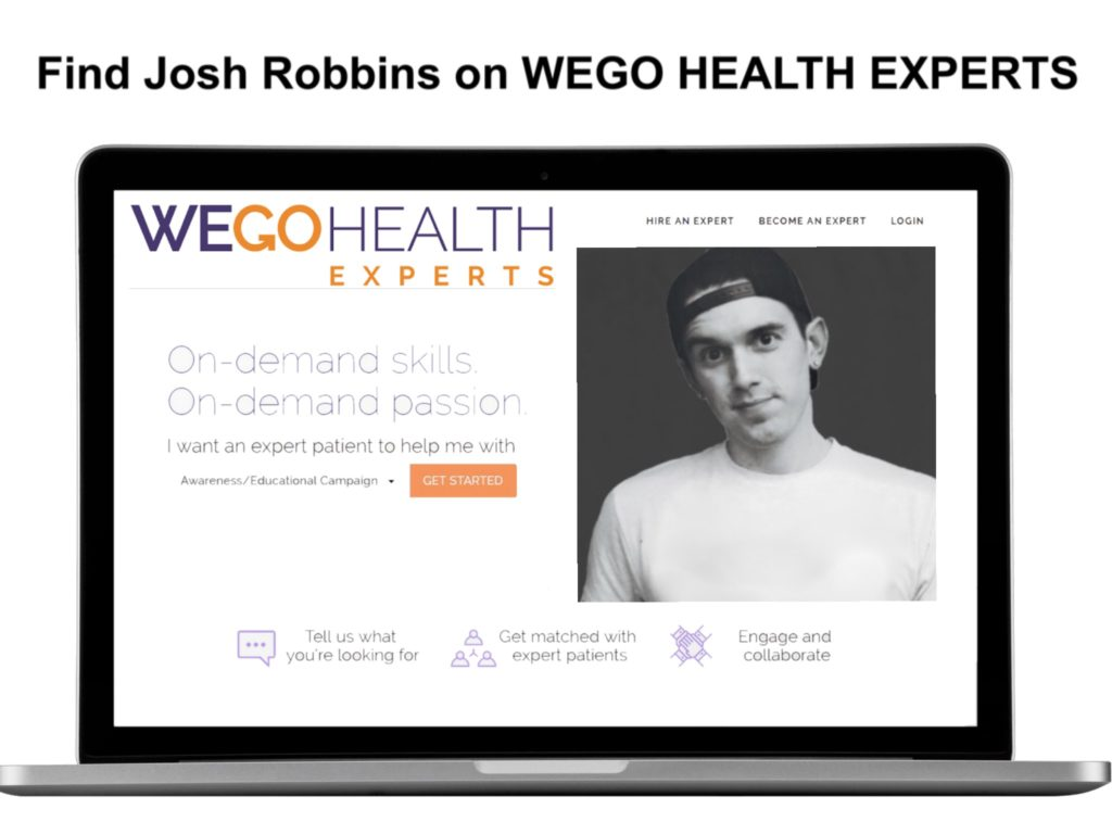 Hire Josh Robbins on WEGO HEALTH EXPERTS